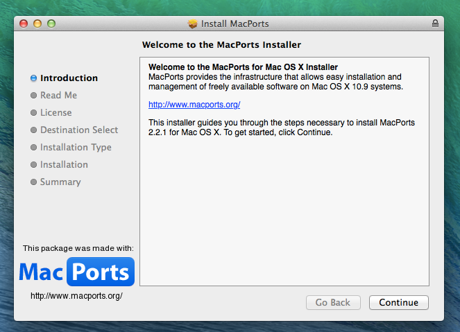 Instalasi MacPorts Dengan pkg installer